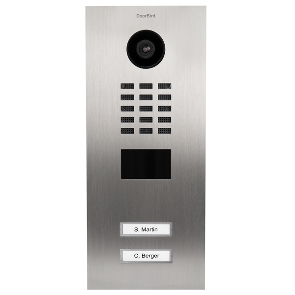 DoorBird D2102V IP-Video-Türsprechanlage für 2 Familienhaus